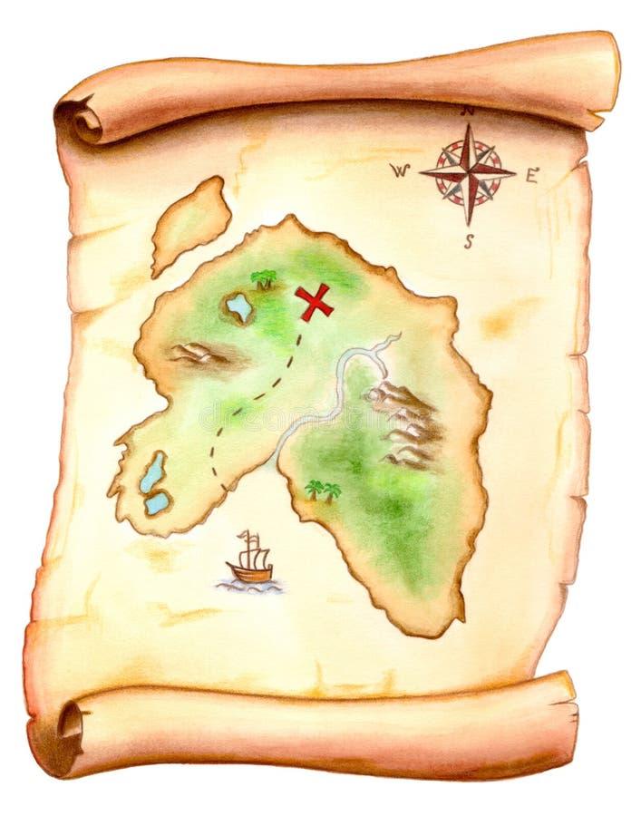 Carte de trésor illustration de vecteur