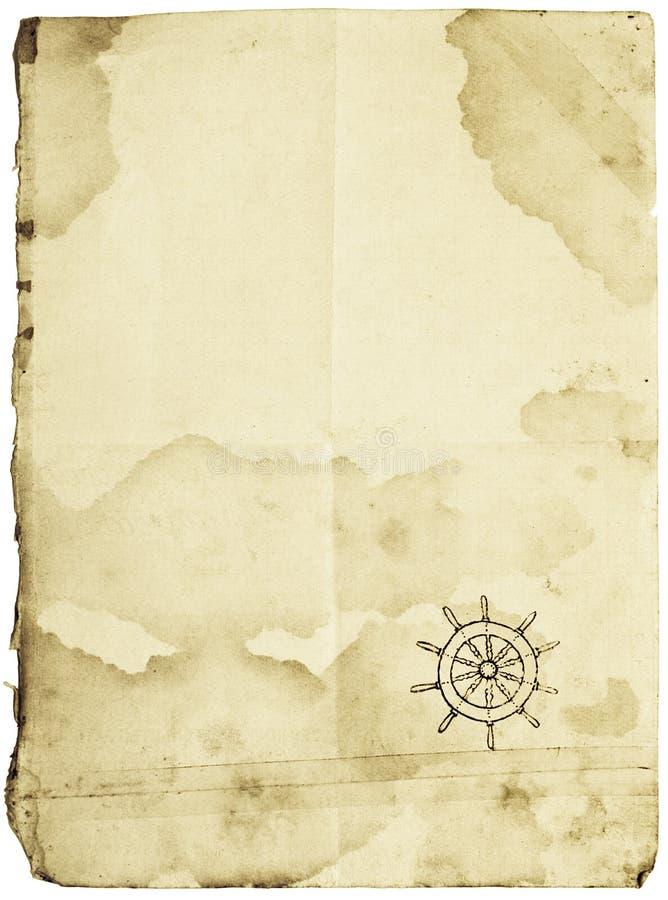 Carte de trésor, d'isolement sur le blanc photographie stock