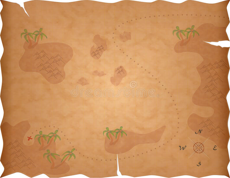 Carte de trésor de pirate illustration stock