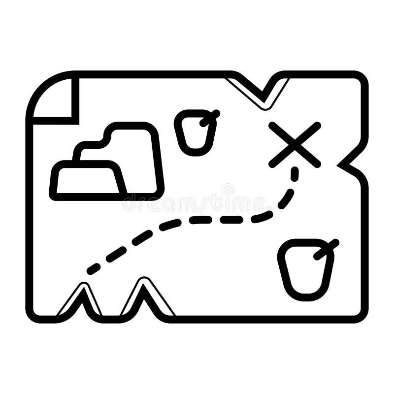 Carte de trésor sur vieux illustration libre de droits