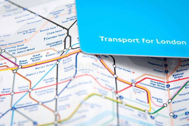 Carte de transport image libre de droits