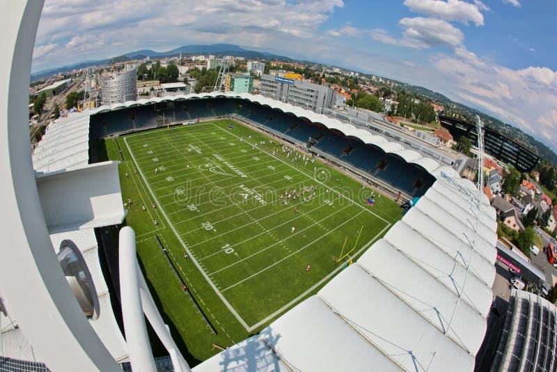 Carte de travail 2011 du football : Arène Graz d'UPC images libres de droits