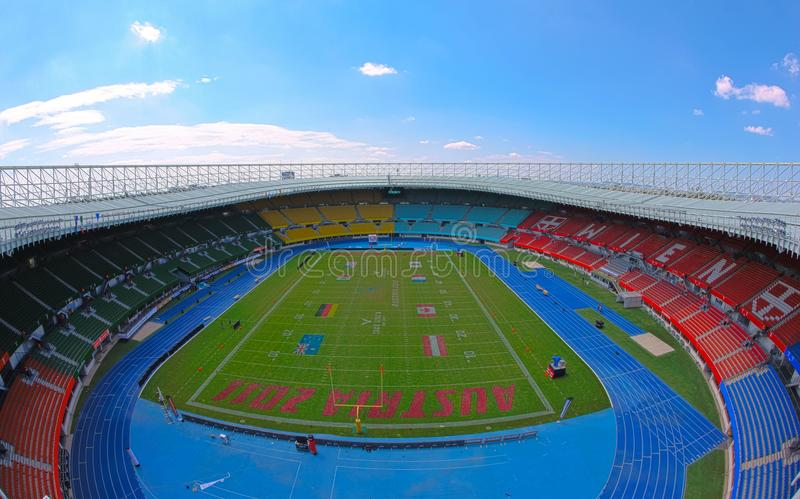Carte de travail 2011 du football : Ernst-Happel-Stade photo libre de droits