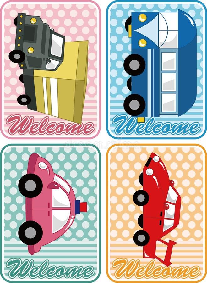 Carte de véhicule de dessin animé illustration libre de droits