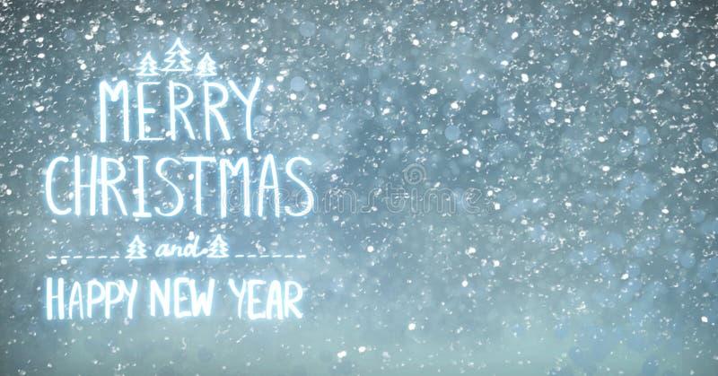 Carte de vacances avec la salutation de Noël et de nouvelle année images stock