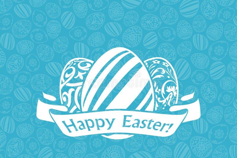 Carte de vacances de Pâques illustration stock