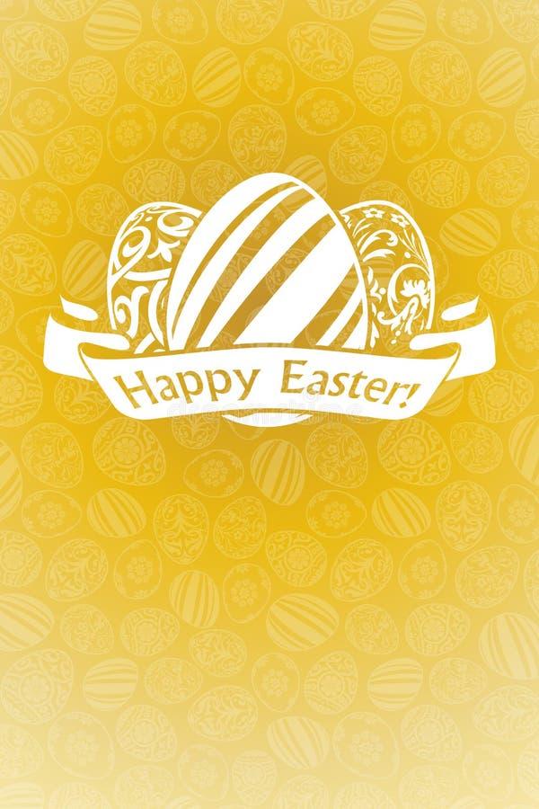 Carte de vacances de Pâques illustration libre de droits