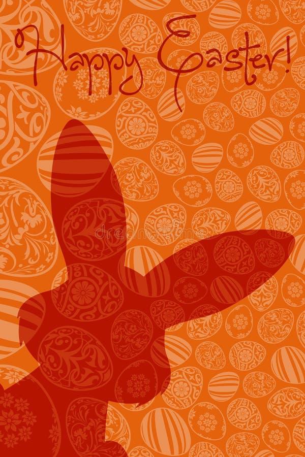 Carte de vacances de Pâques illustration de vecteur