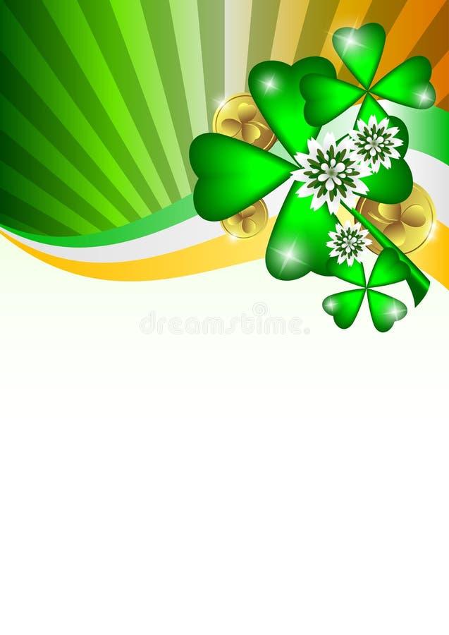 Carte de vacances le jour du ` s de St Patrick image stock