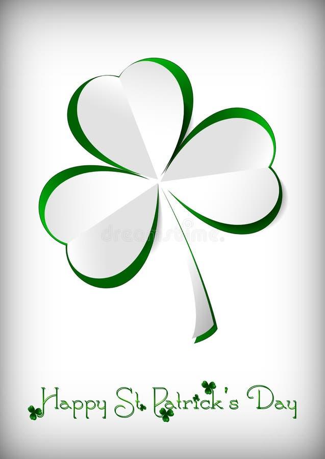 Carte de vacances le jour du ` s de St Patrick images stock