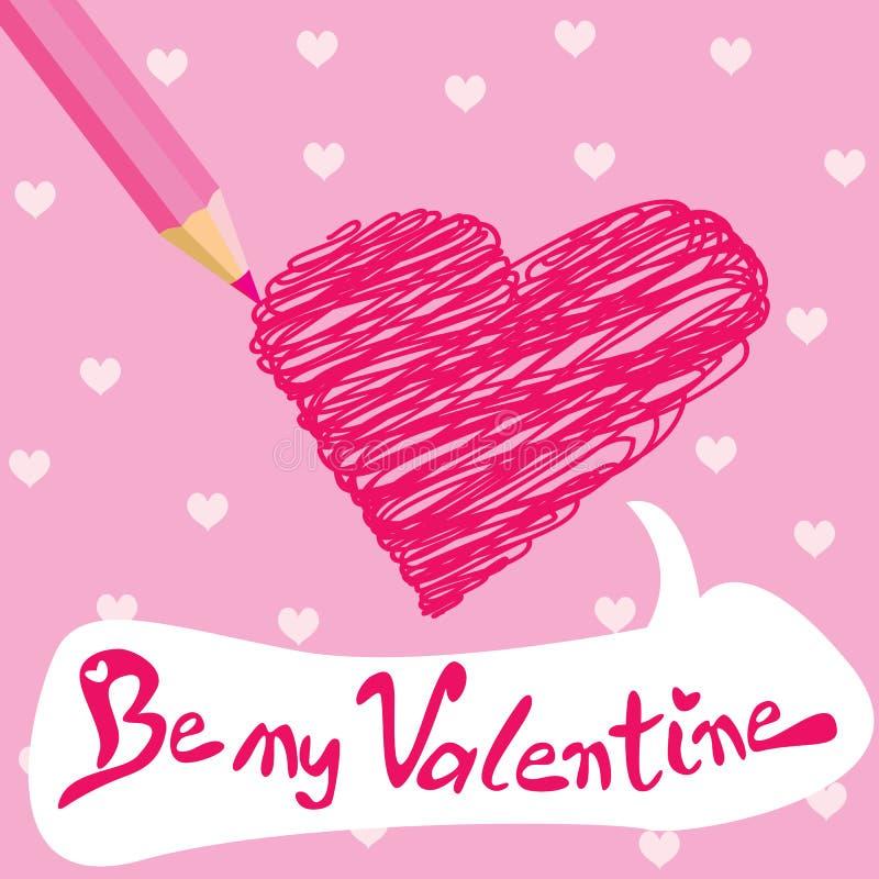 Carte de Valentine illustration stock