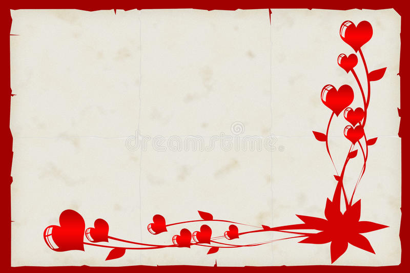 Carte de Valentine. photographie stock