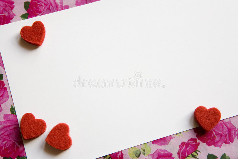 Carte de Valentine photos stock