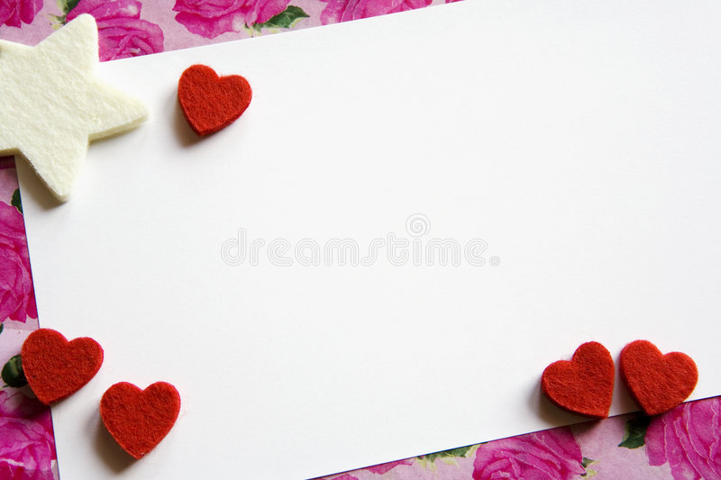 Carte de Valentine photo libre de droits