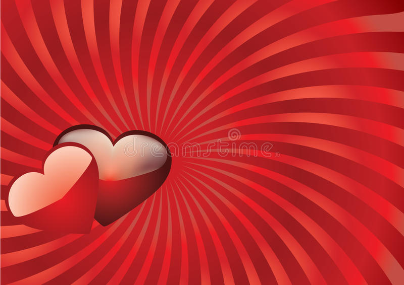 Carte de Valentine avec des coeurs illustration stock