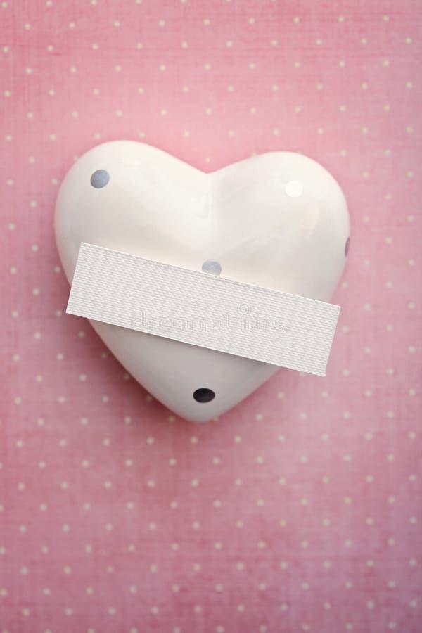 Carte de Valentine avec le coeur image libre de droits