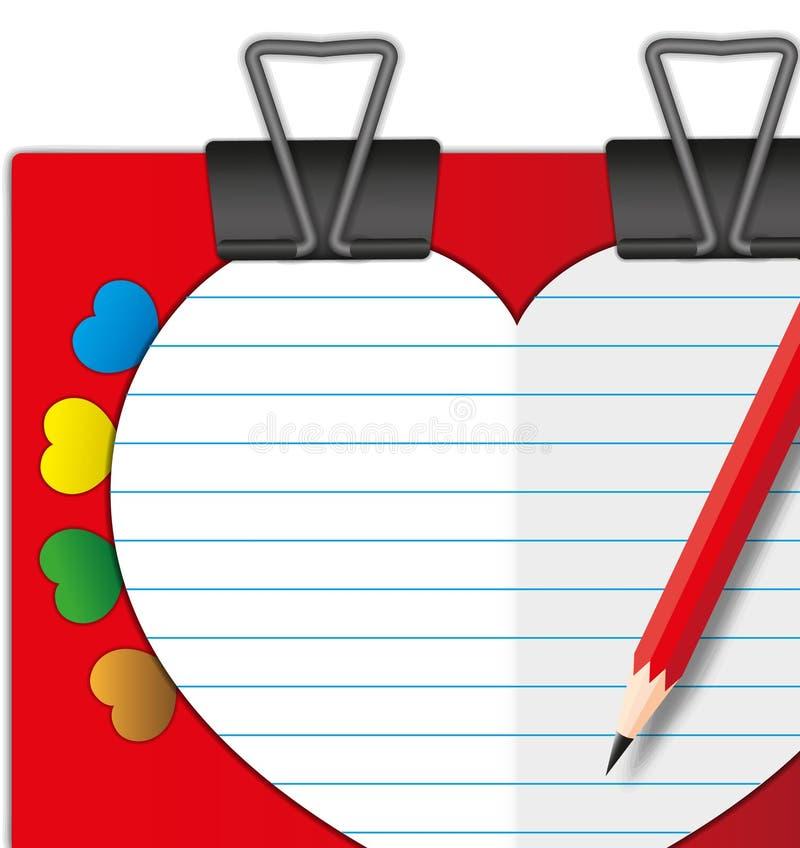 Carte de valentine d'amoureux illustration libre de droits