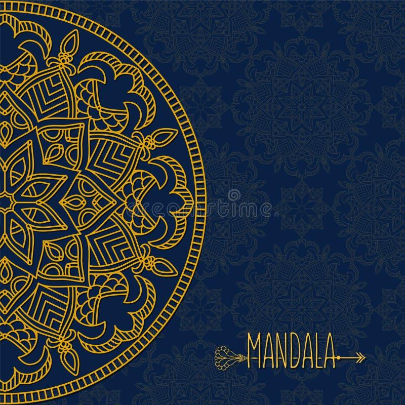 Carte de vecteur avec le mandala Fond de vecteur Décoratif ethnique illustration de vecteur