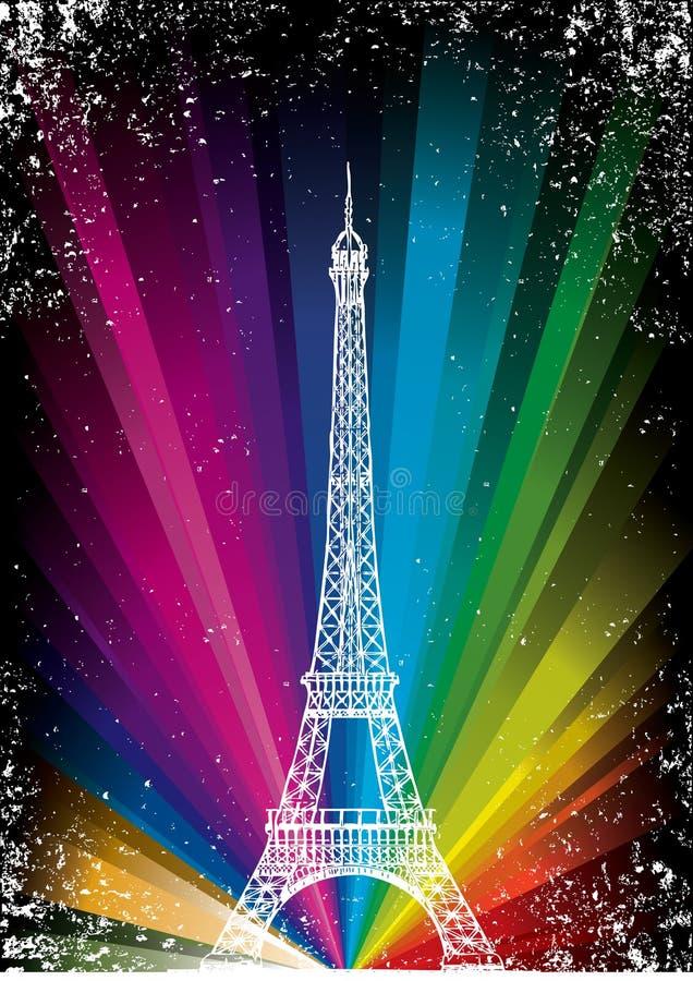 Carte de vecteur avec Tour Eiffel illustration de vecteur