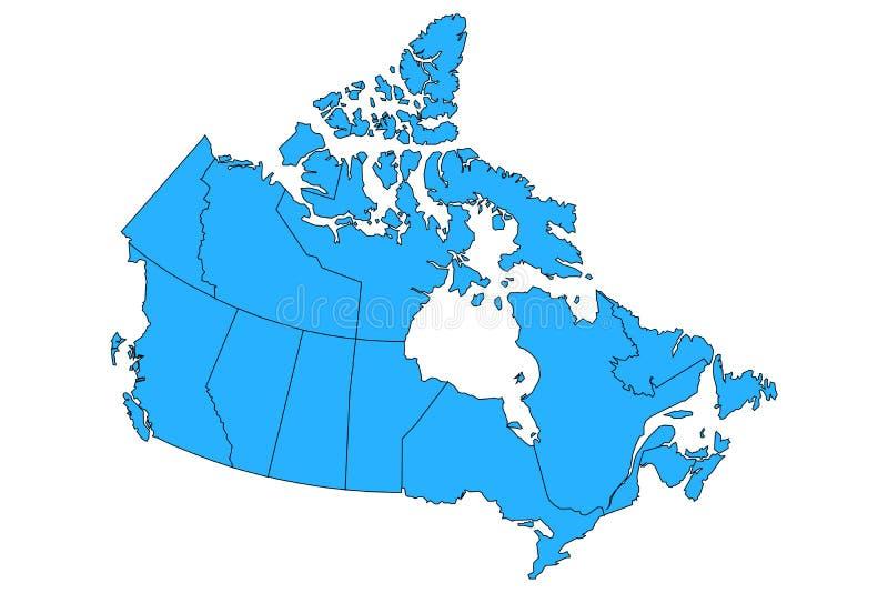Carte de vecteur de Canad avec des provinces et des frontières de territoires illustration de vecteur