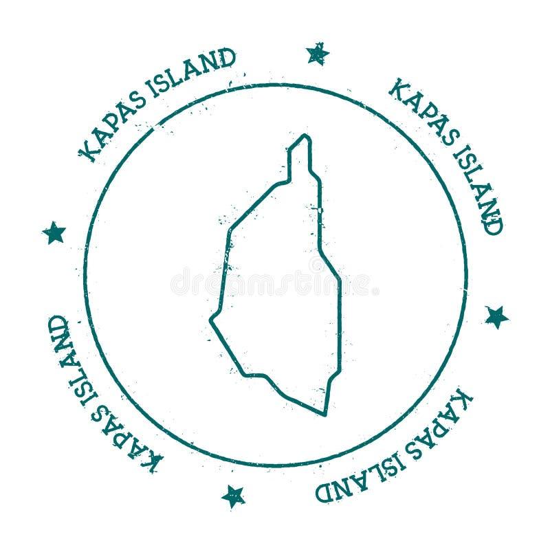 Carte de vecteur d'île de Kapas illustration libre de droits