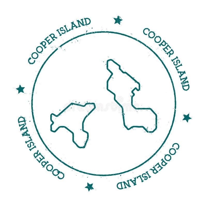 Carte de vecteur d'Island de tonnelier illustration de vecteur