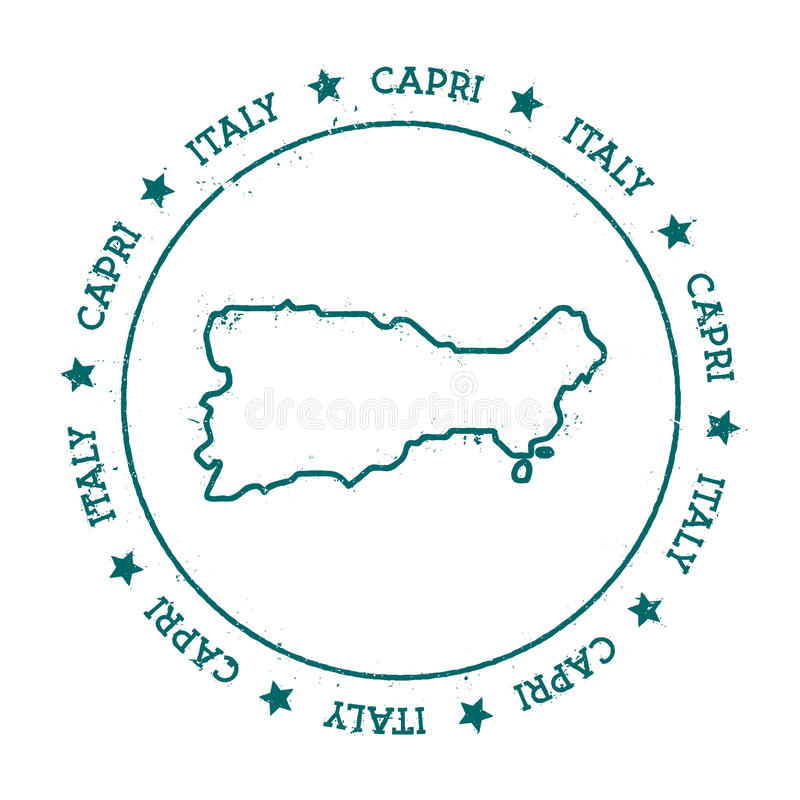 Carte de vecteur de Capri illustration stock