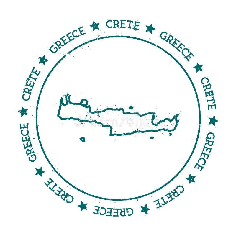 Carte de vecteur de Crète illustration libre de droits