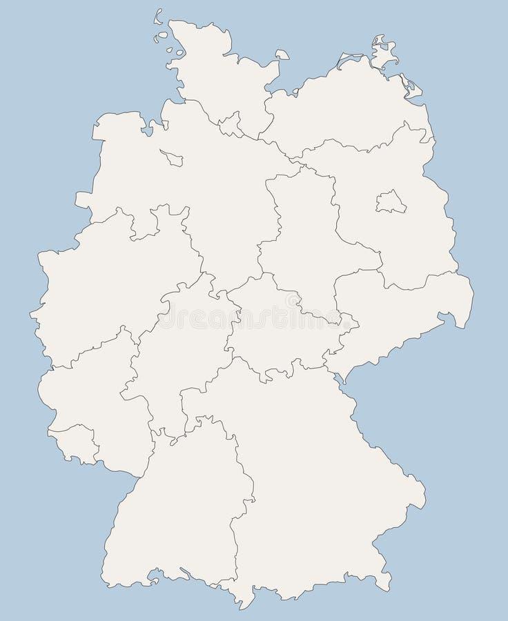 Carte de vecteur de l'Allemagne illustration stock