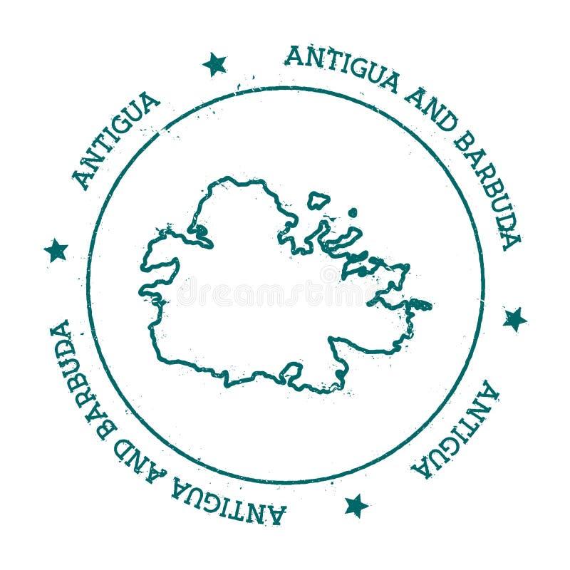 Carte de vecteur de l'Antigua illustration libre de droits