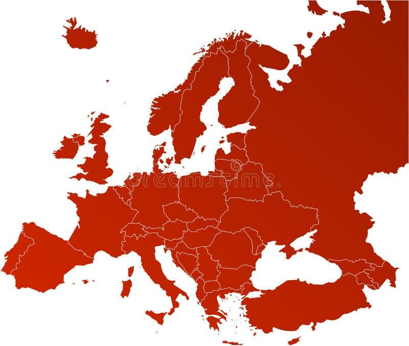 Carte de vecteur de l'Europe illustration stock