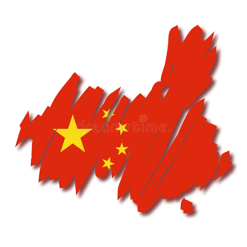 Carte de vecteur de la Chine illustration stock
