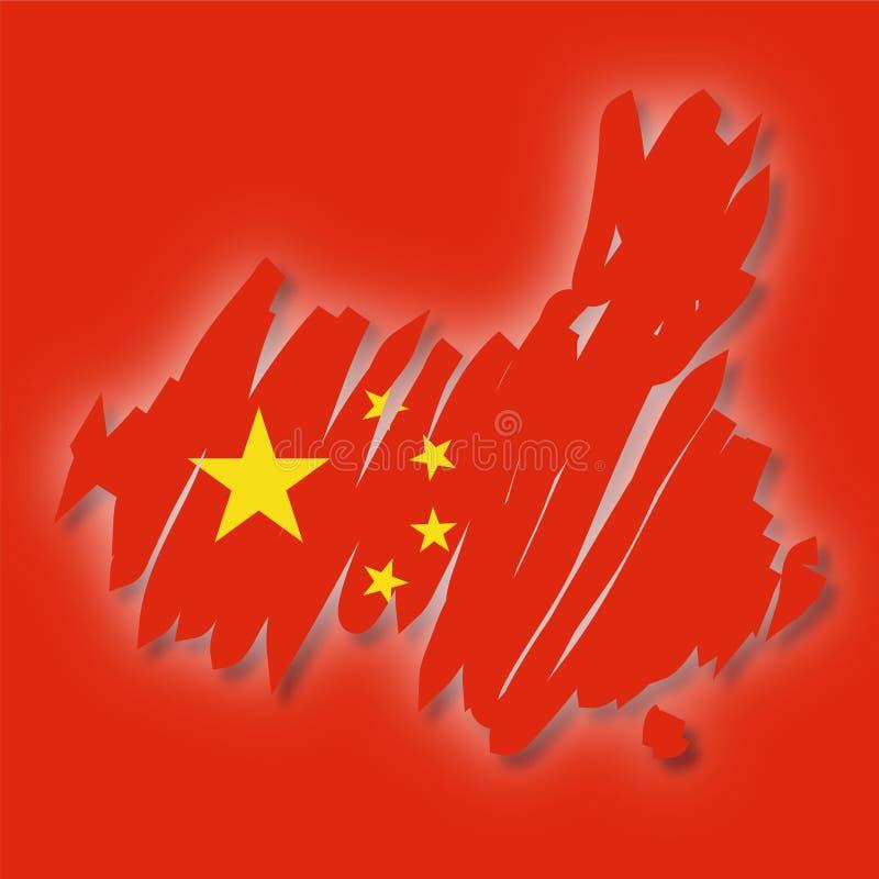 Carte de vecteur de la Chine illustration de vecteur