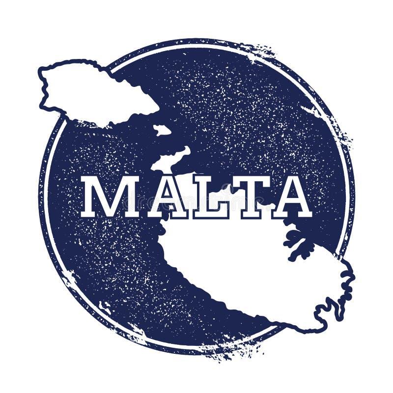 Carte de vecteur de Malte illustration de vecteur