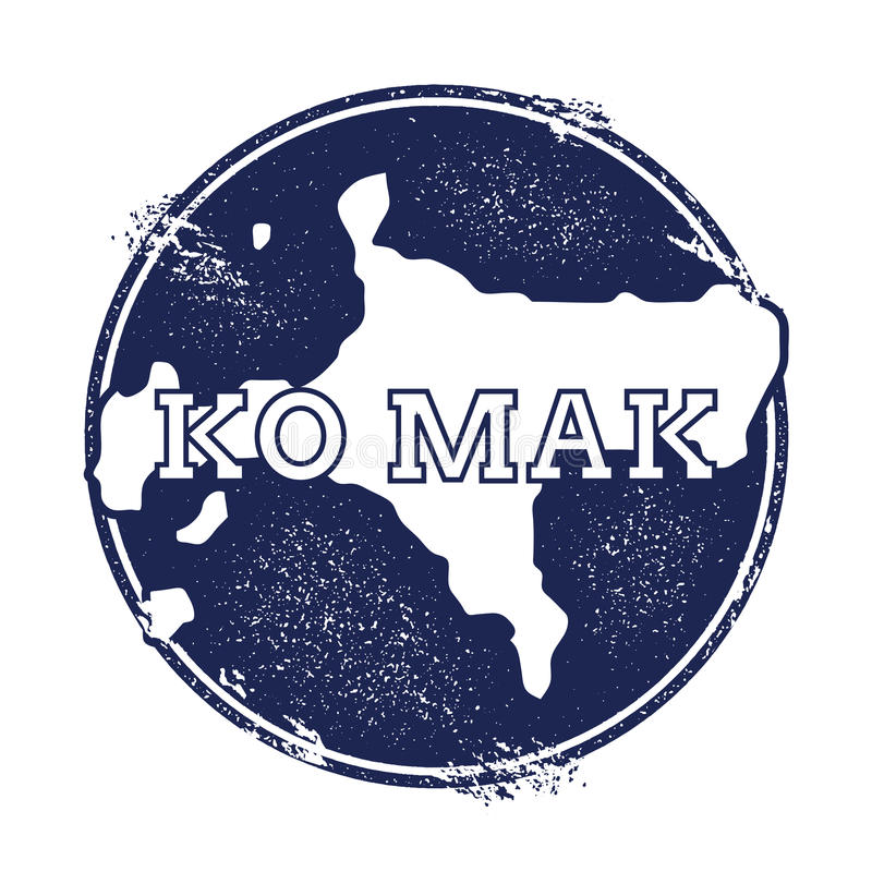 Carte de vecteur de valeurs maximales de concentration au poste de travail de Ko illustration stock