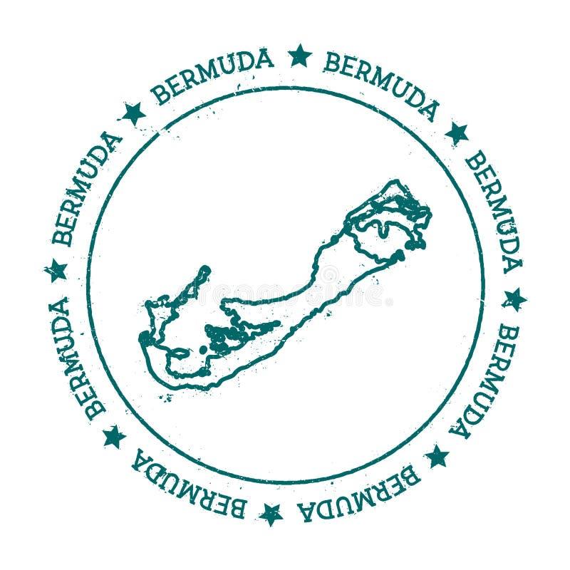 Carte de vecteur des Bermudes illustration de vecteur