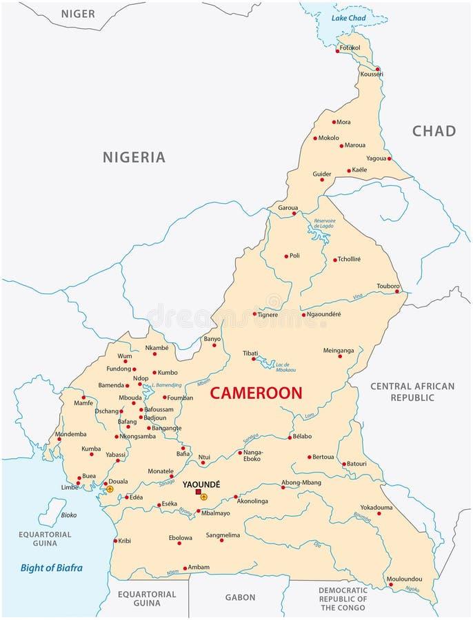 Carte de vecteur du Cameroun illustration libre de droits