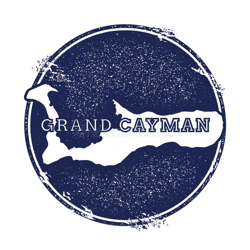 Carte de vecteur de Grand Cayman illustration libre de droits