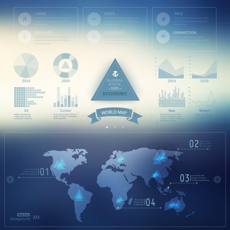 Carte de vecteur, Web et calibre mobile Conception d'entreprise de site Web illustration stock