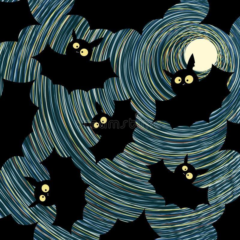 Carte de veille de la toussaint de type de dessin animé illustration stock