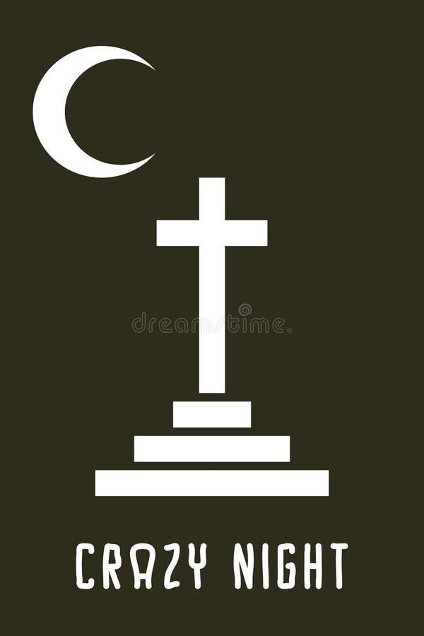 Carte de Veille de la toussaint illustration stock