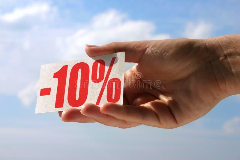 Carte de vente de fixation photographie stock
