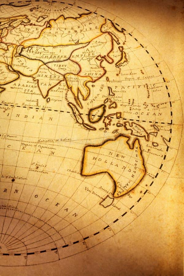 Carte de Vieux Monde photos stock