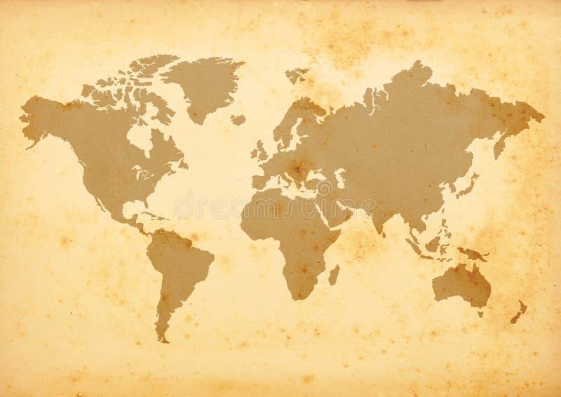 Carte de Vieux Monde illustration de vecteur