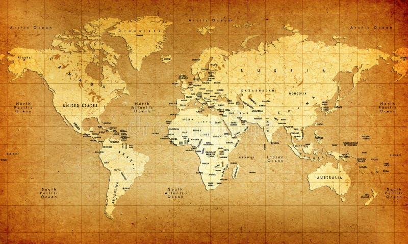 Carte de Vieux Monde illustration libre de droits