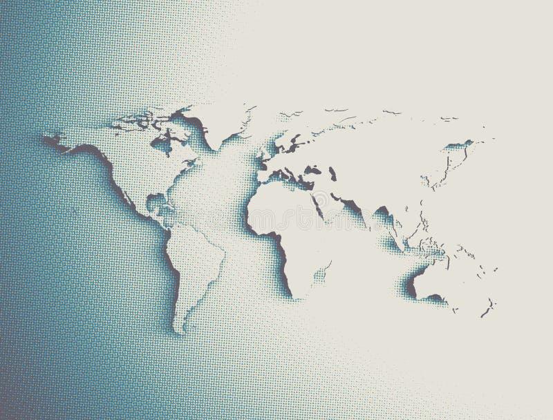 Carte de Vieux Monde abstraite illustration libre de droits