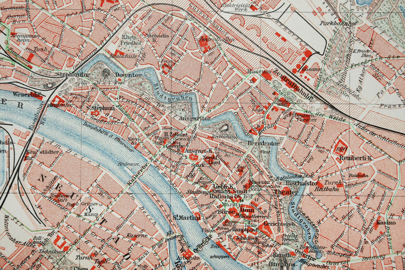 Carte de ville images libres de droits