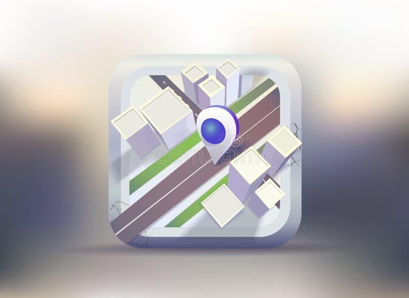 Carte de ville avec le marqueur photographie stock libre de droits