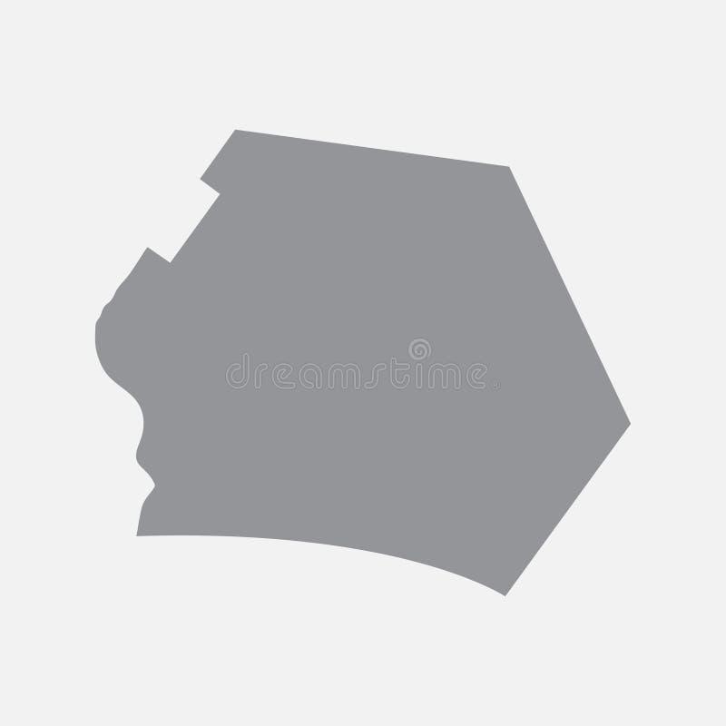Carte de ville de Canberra dans le gris sur un fond blanc illustration libre de droits