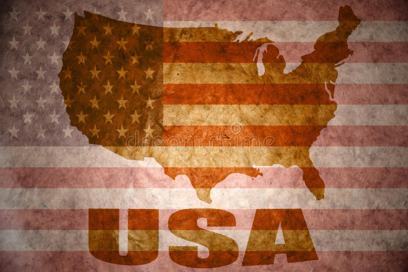 Carte de vintage des Etats-Unis d'Amérique illustration stock